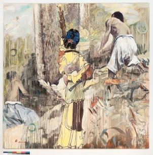 Dirge,安魂曲,2002,Oil on canvas,80 x 80