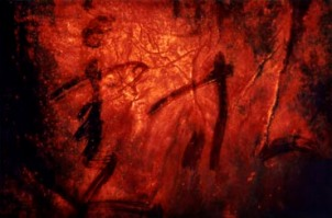 """Lampo Leong: Heavenly Light I • Acrylic & mixed media on paper, 34"""" x 51"""" (86.4 x 130 cm), 2010"""