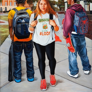 On Campus-Winning is in My Blood-oil on canvas 60x73inches 2013